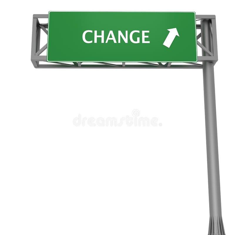 Change signboard stock illustration
