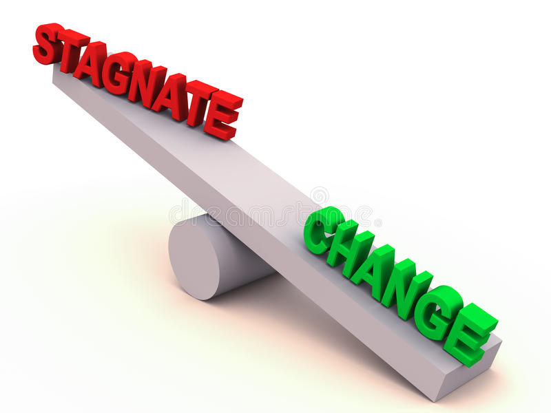 Download Change or stagnate balance stock illustration. Image of stagnation - 26183082