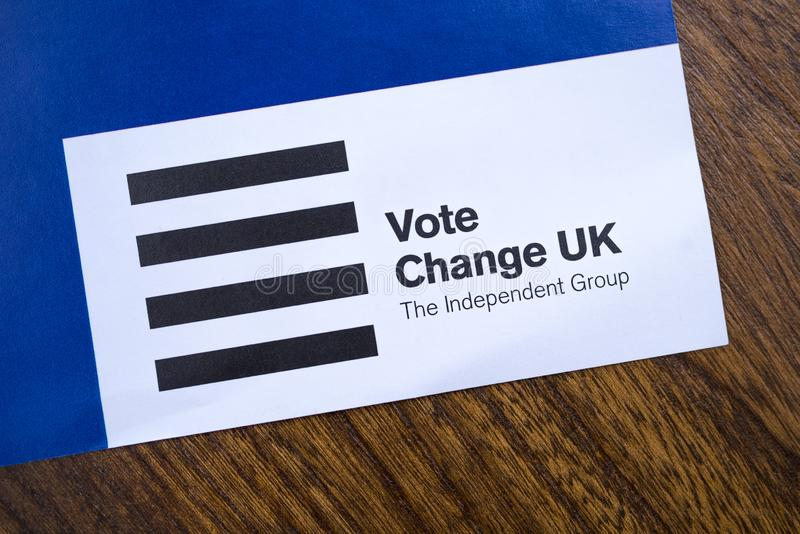 Change UK Political Party stock image