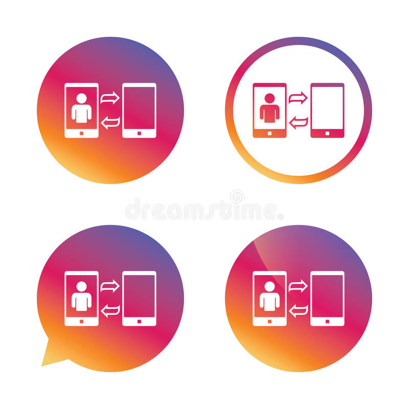 Change Video call to simple call sign icon. stock illustration