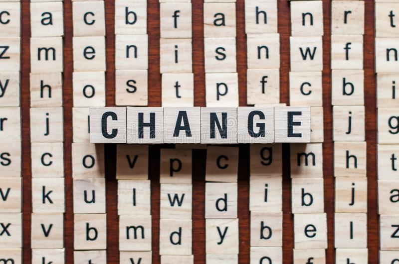 Change word concept royalty free stock photos