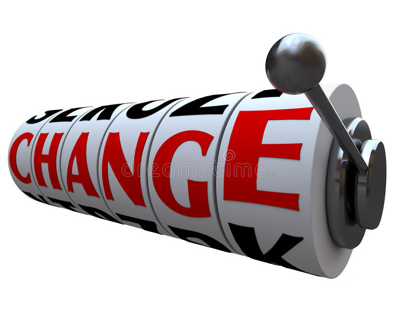 Download Change Word On Slot Machine Wheels Stock Illustration - Image: 16712594