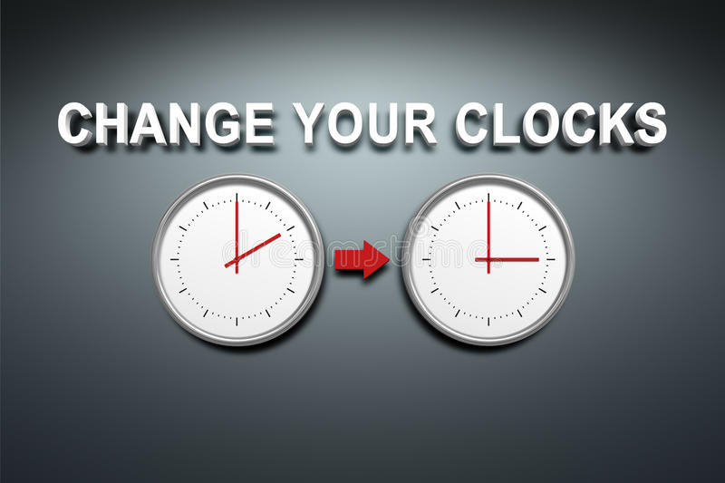 Change your clocks royalty free illustration