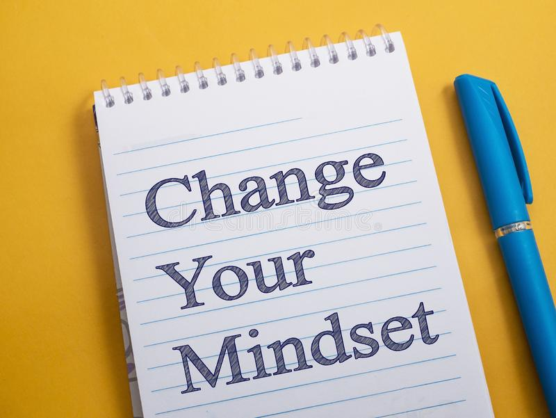 Change Your Mindset, Motivational Words Quotes Concept stock photo