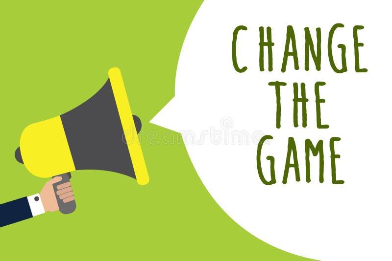 Changement conceptuel The Game d'apparence d'écriture de main La présentation de photo d'affaires font un mouvement faire quelque illustration de vecteur