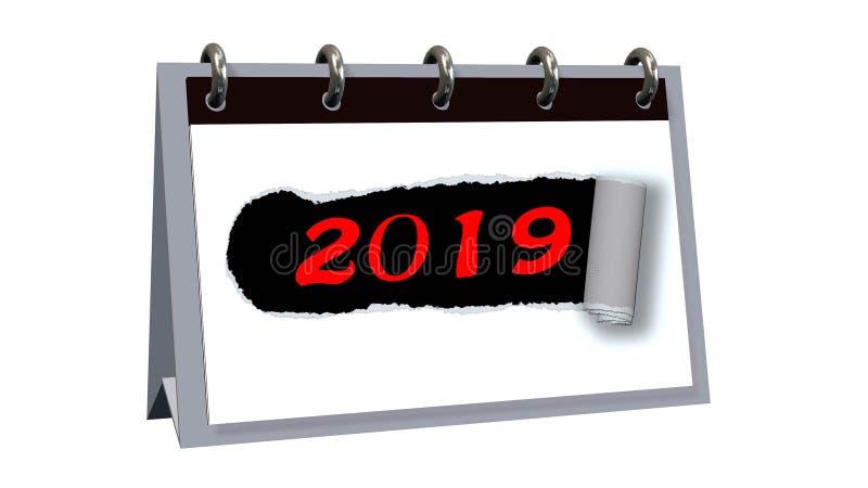 Changement 2019 d'année illustration libre de droits