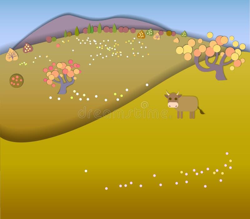 Changement de concept des saisons Concept de globe montrant un paisible et un I illustration de vecteur