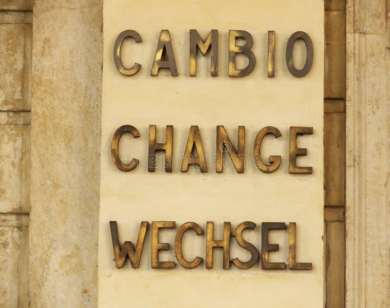 Changement de devise