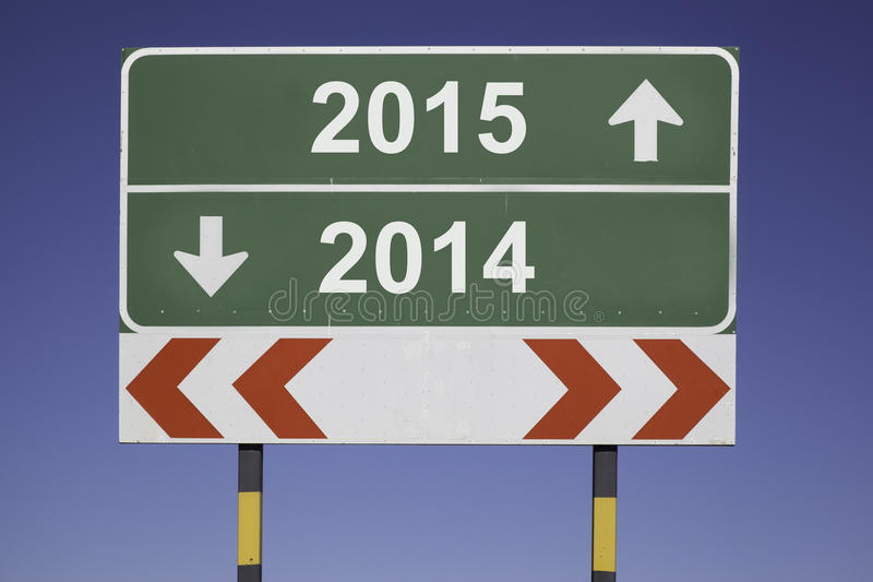 Changement de l'année 2015 photo stock