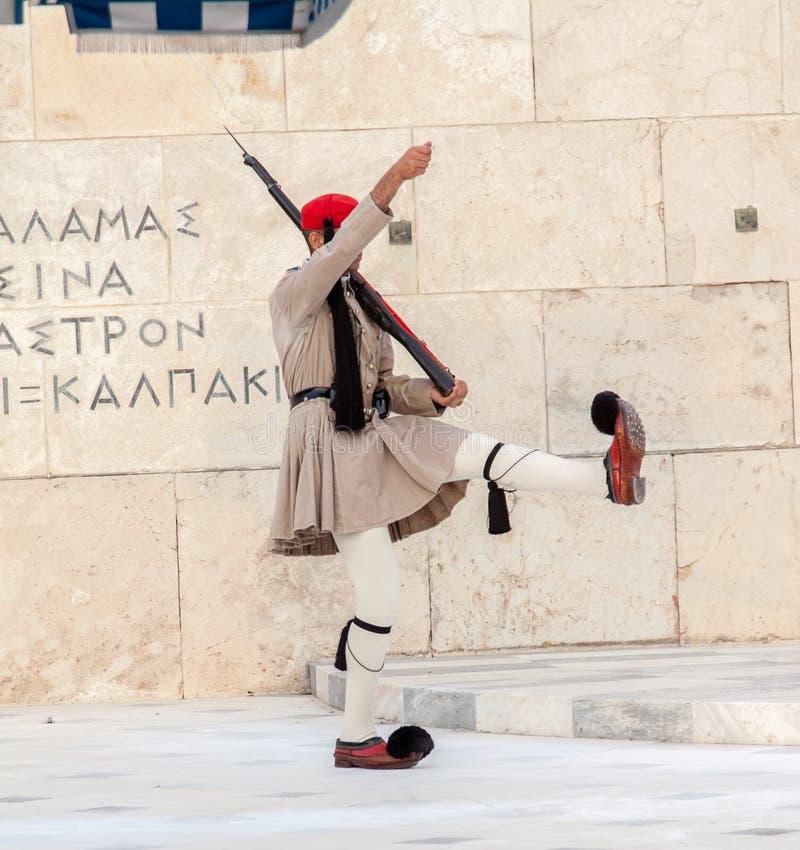Changement des dispositifs protecteurs Athènes images libres de droits