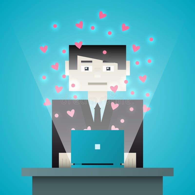 Changements d'homme par la communication, la connaissance et l'amour illustration stock