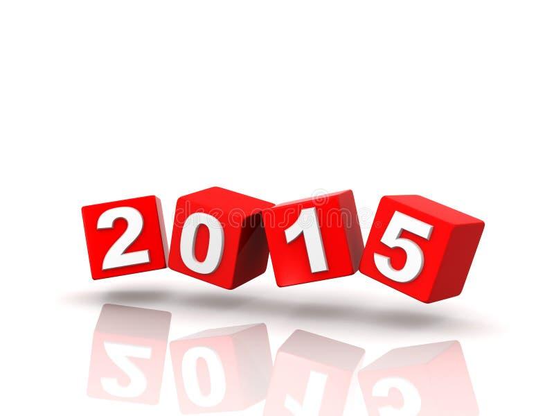 Changements de l'année 2014 à 2015 illustration de vecteur