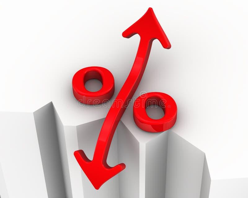 Changements de taux d'intérêt illustration libre de droits