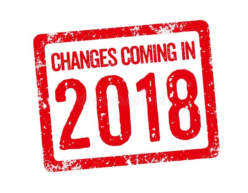 Changements venant en 2018 illustration de vecteur
