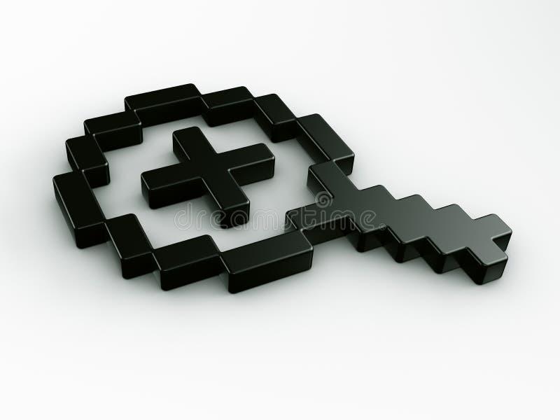 Changent de plan dedans le curseur de souris dans 3d illustration de vecteur