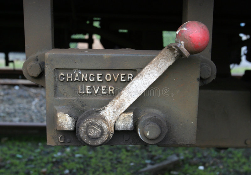 Changeover Lever stock image