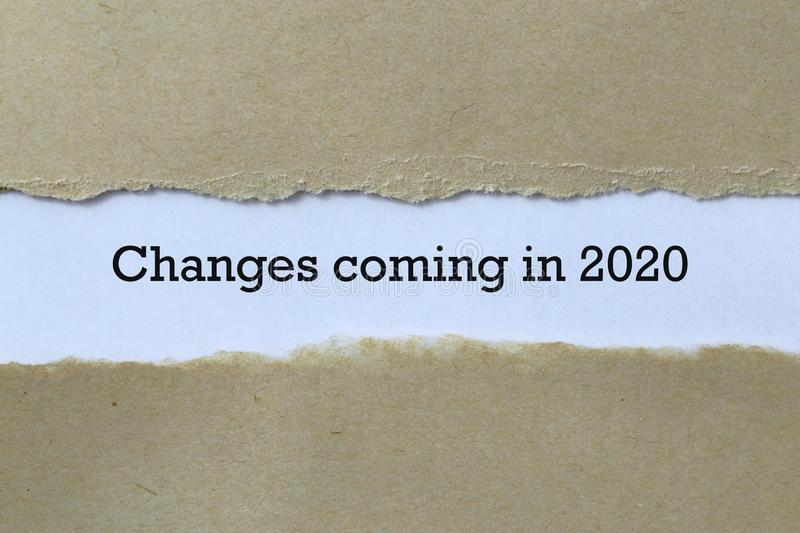 Changes coming in 2020 on paper. Background stock photos