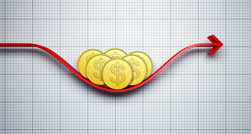 Changes in the dollar exchange rate stock illustration