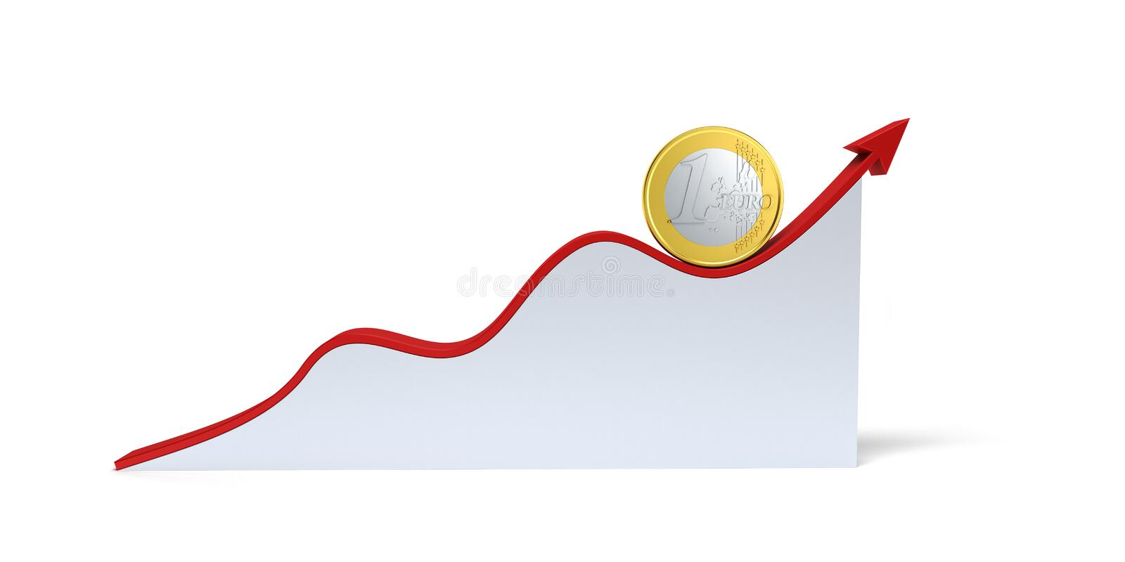 Changes in the euro exchange rate stock illustration
