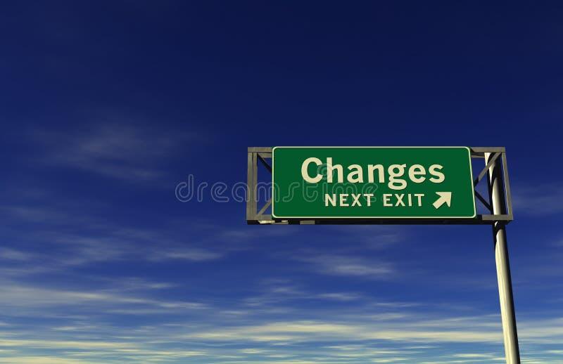 Changes Freeway Exit Sign vector illustration