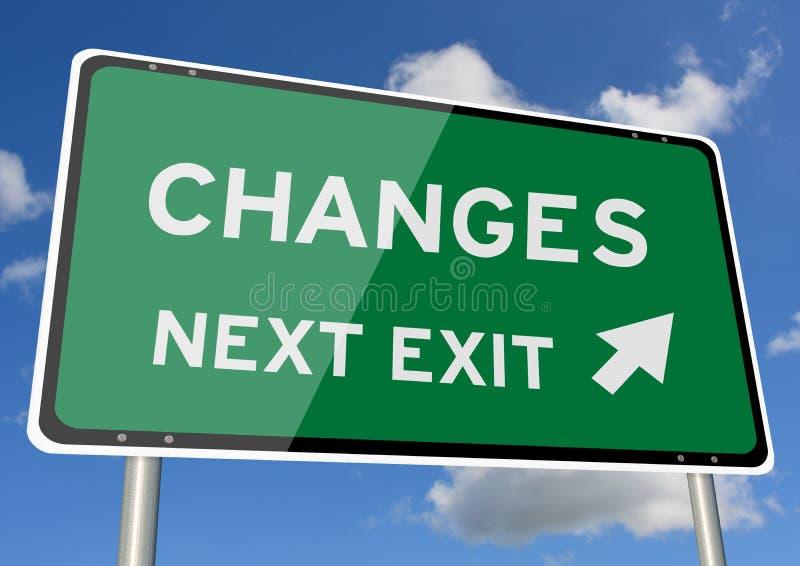 Download Changes Signpost Roadsign Next Exit Blue Sky Stock Illustration - Illustration of environment, economic: 109490059