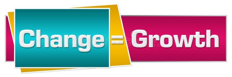 Changez est rose de turquoise de croissance horizontal illustration stock