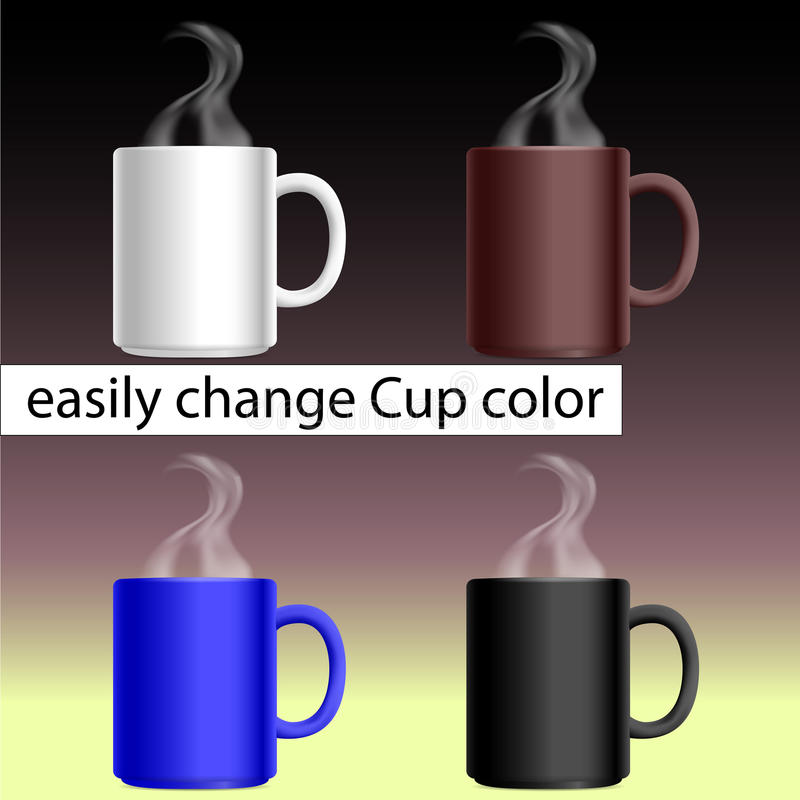 Changez facilement la couleur de tasse photographie stock