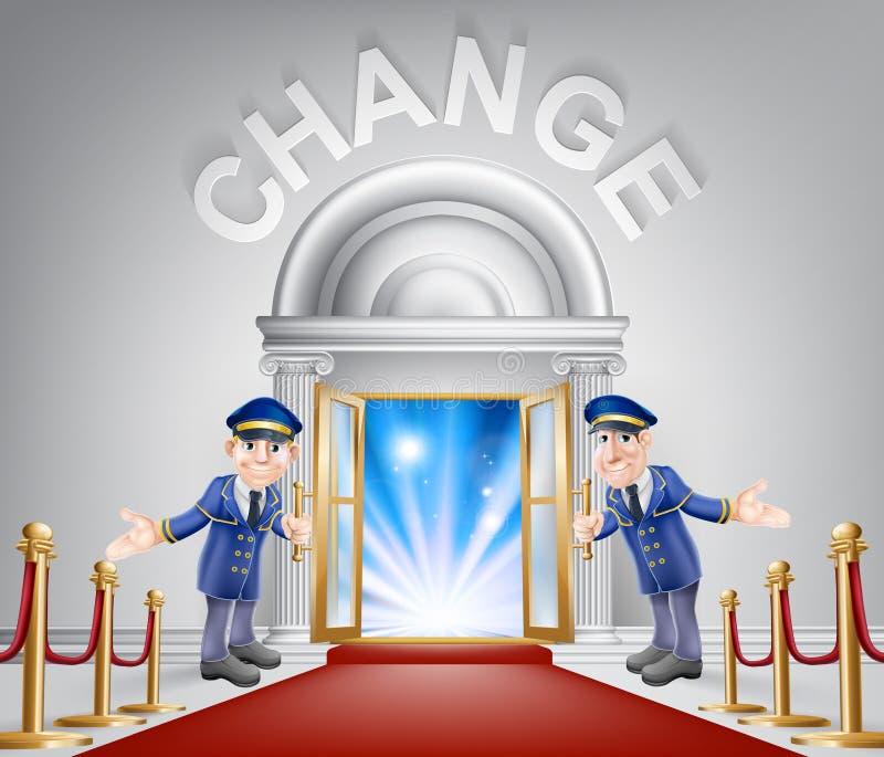 Changez l'entrée de tapis rouge illustration libre de droits