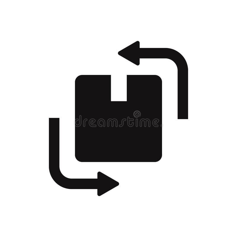 Changez l'icône de vecteur de boîte Symbole plat moderne et simple pour le site Web, mobile, logo, APP, UI illustration de vecteur
