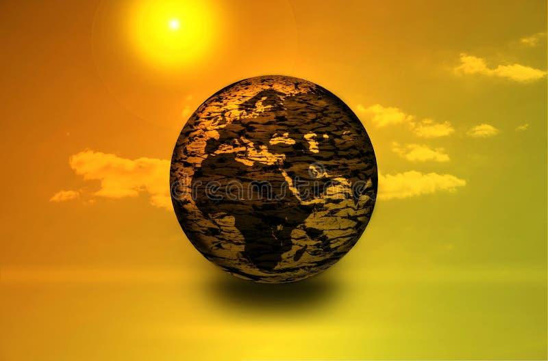 changez la terre sèche du climat illustration libre de droits