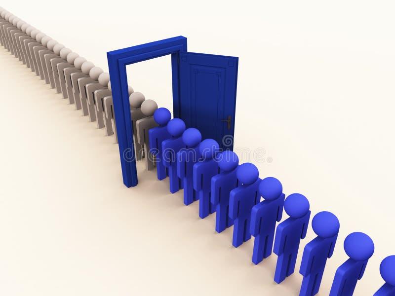 Changez le contrôle de processus industriel illustration stock