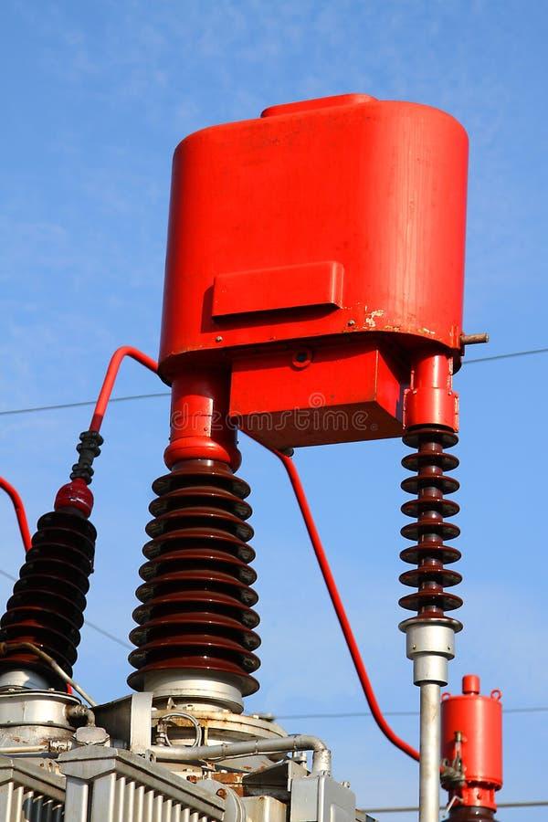 Changez le dispositif un transformateur de courant de rapport pour la haute tension image stock