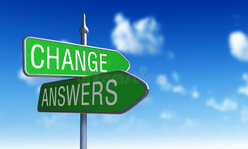 Changez les réponses illustration libre de droits