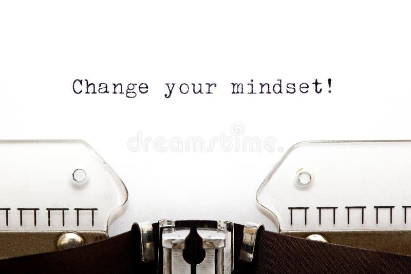 Changez votre machine à écrire de mentalité photographie stock libre de droits