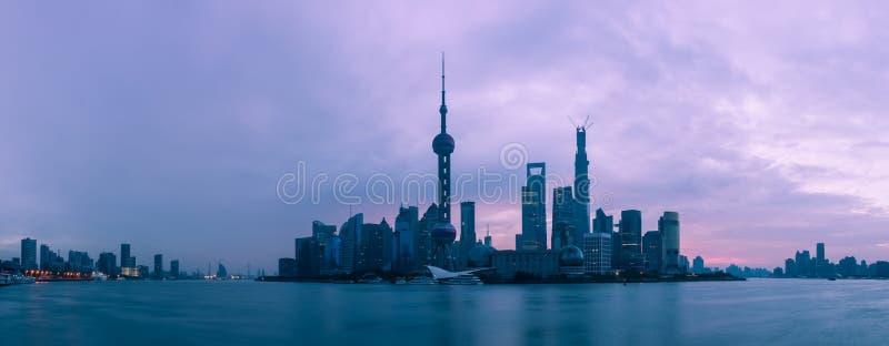 Changhaï à l'aube photo stock