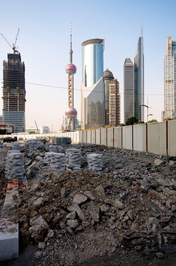 Changhaï dans la construction photographie stock