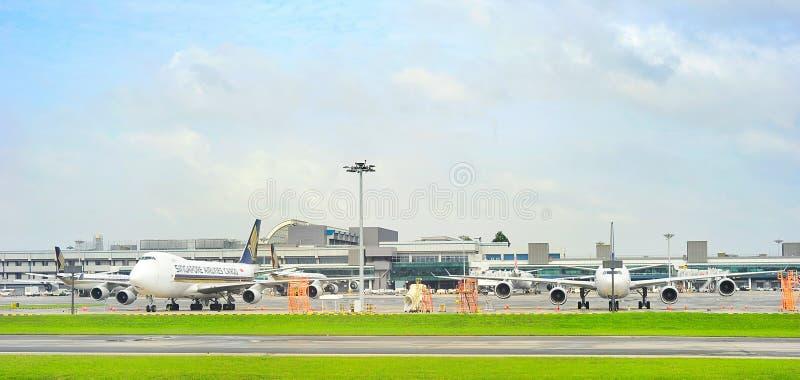 Changi Internationale Luchthavenmening stock foto's