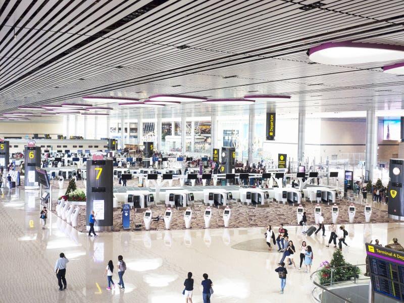 Changi lotnisko międzynarodowe, Terminal 4 obrazy royalty free