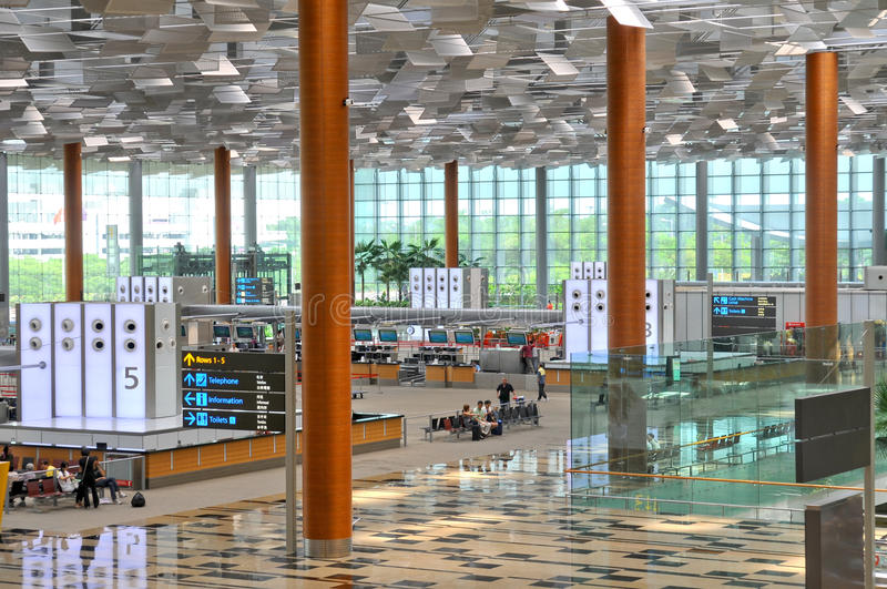 Changi Luchthaven Singapore stock afbeeldingen