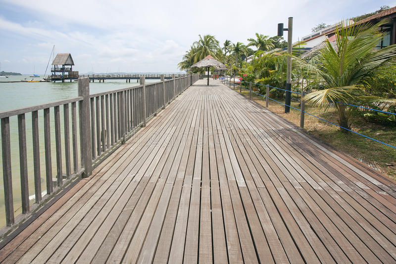 Changi Point Boardwalk in Singapore stock images