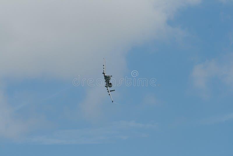 Changi, Singapour - fév. 6,2010 : Coup de foudre II de l'U.S. Air Force A-10 photographie stock
