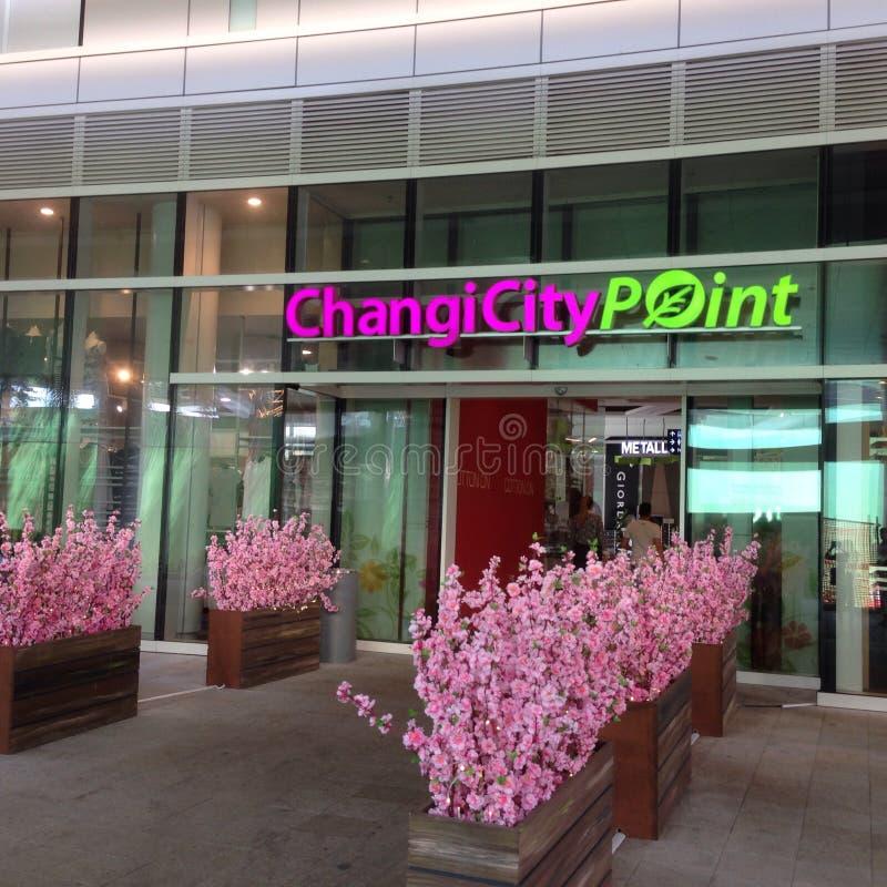 Changi-Stadt-Punkt lizenzfreie stockfotos