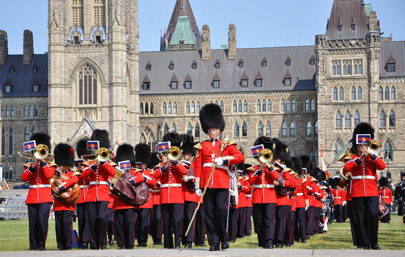 Changing of Guard in Parliament Hill, Ottawa