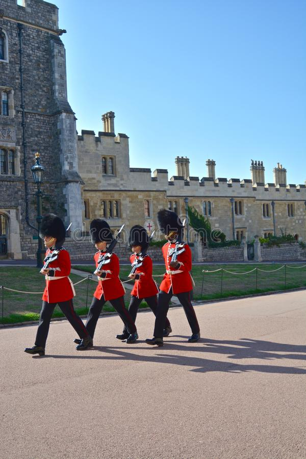 Changing of the Guard at Windsor Castle royalty free stock photos