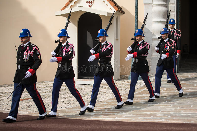 Changing of the guards ceremony in Monaco royalty free stock photo