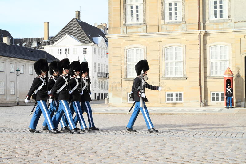 Changing guards stock images