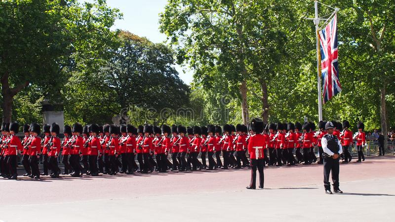 Changing of the Guards at the Mall, London royalty free stock photos