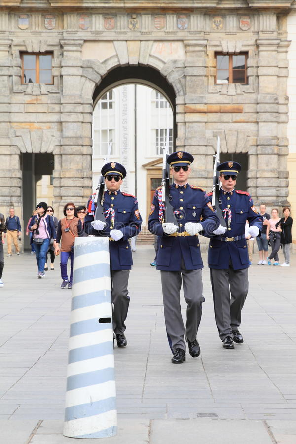 Changing guards stock photo