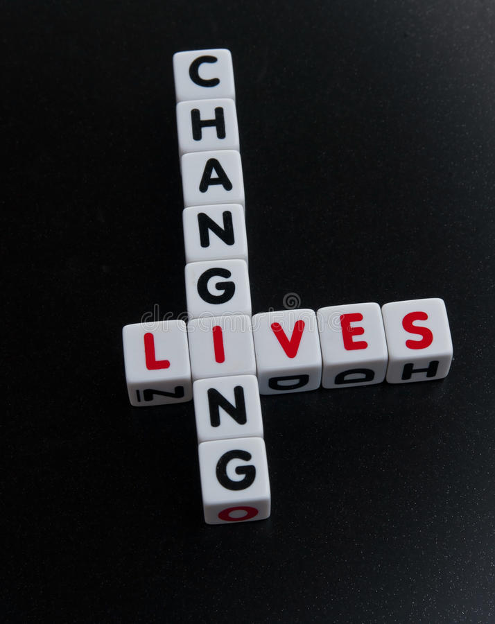 Changing lives royalty free stock photography