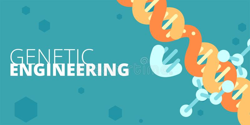 Genetic engineering concept stock illustration
